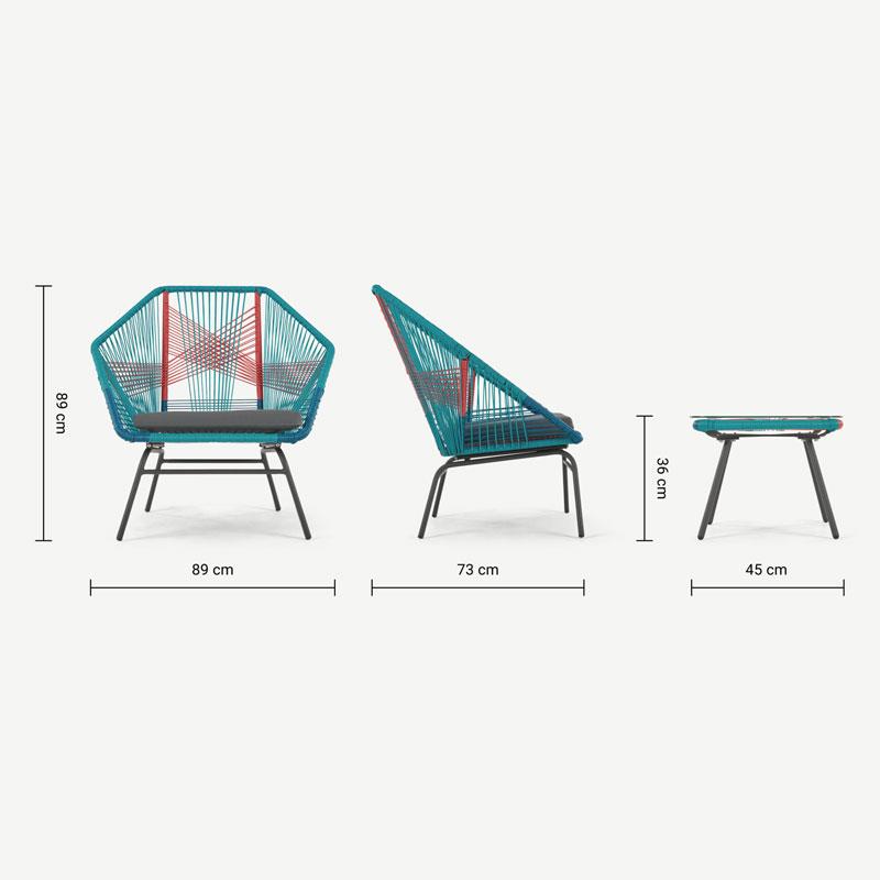صندلی باغی هندسه